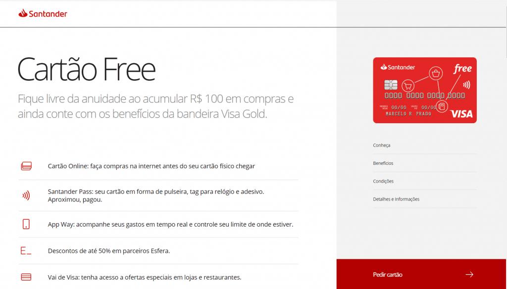 pedir-cartao-santander-free