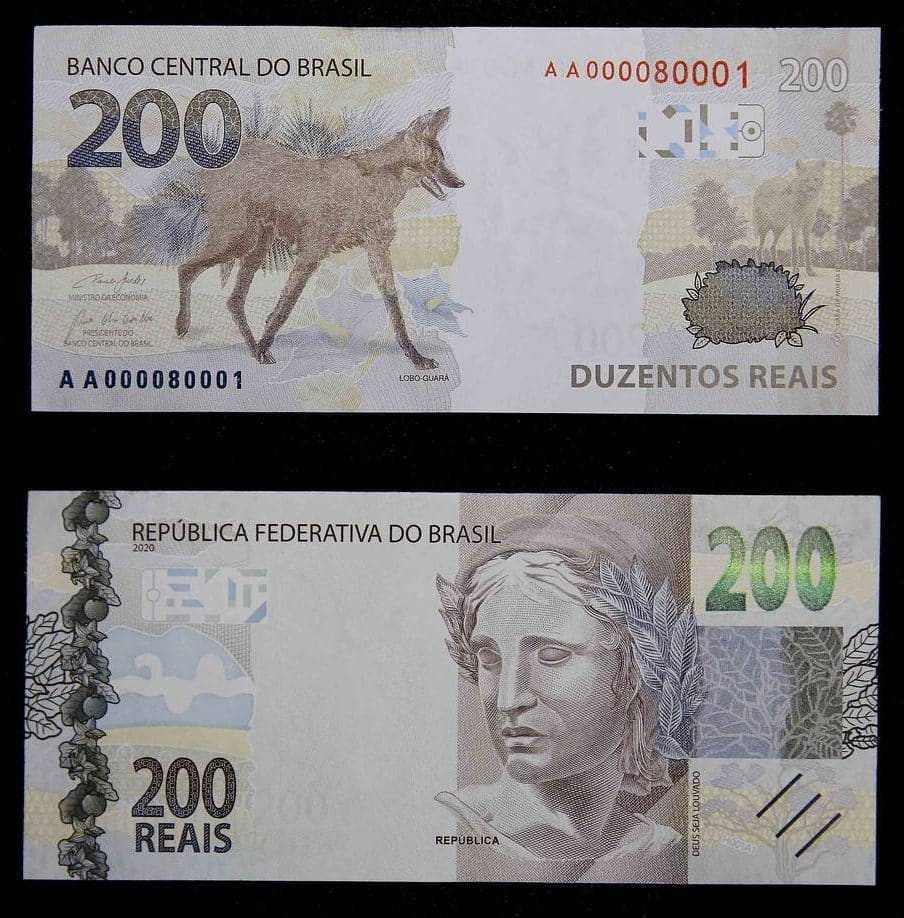 Frente e Verso da nota de R$ 200 (Foto: Reprodução)