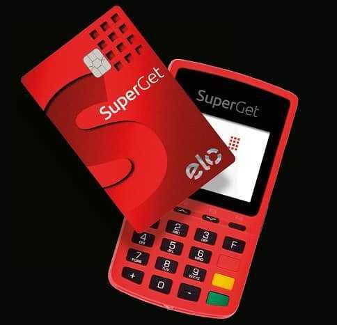 Máquina de cartão de crédito SuperGet
