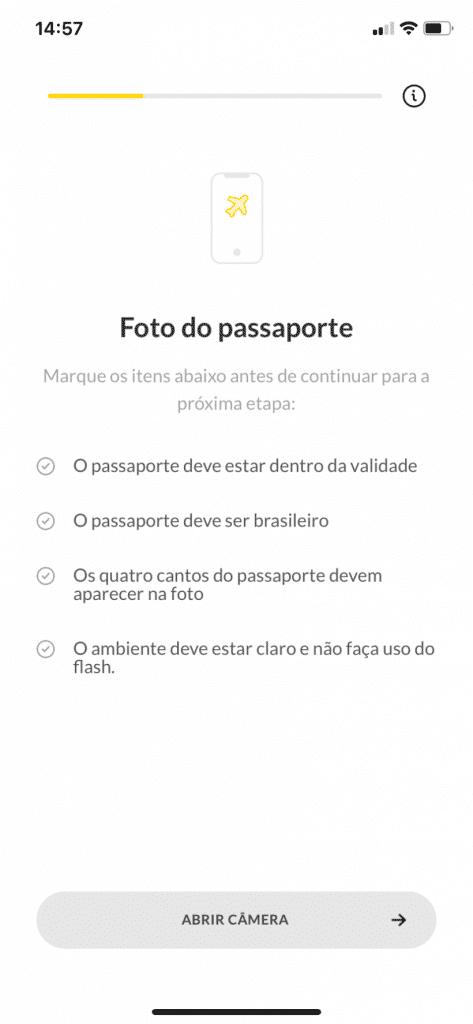 Pedido da foto do passaporte