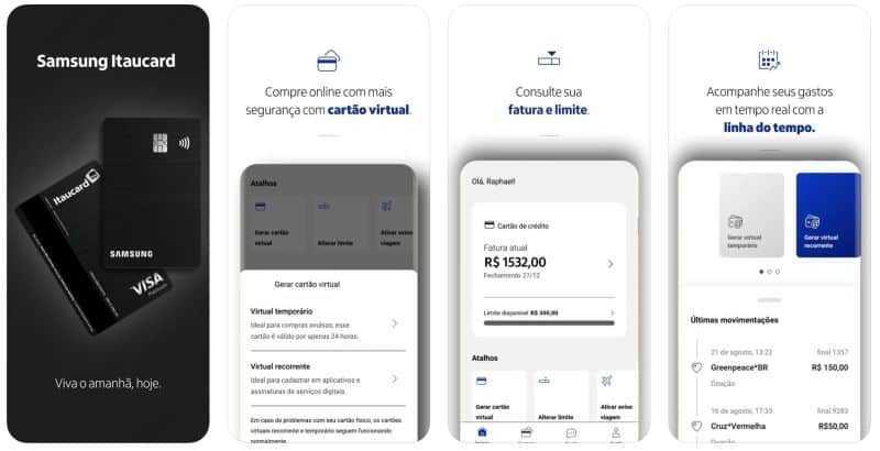 App do cartão Samsung