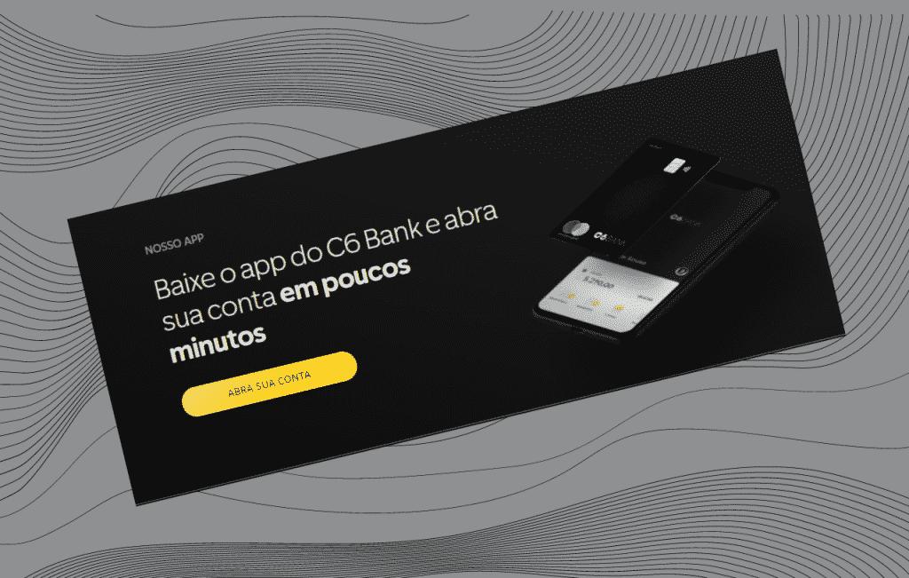 Cartão de crédito C6 Carbon Mastercard Black mais conta digital em minutos..