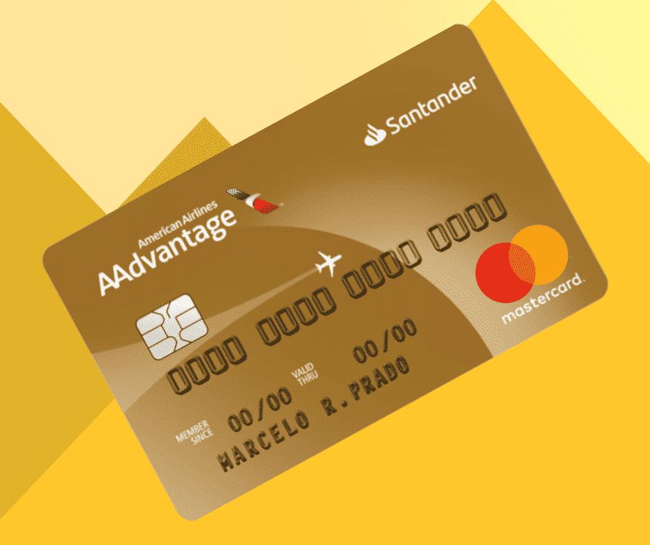 Imagem do Cartão Santander AAdvantage Gold Mastercard