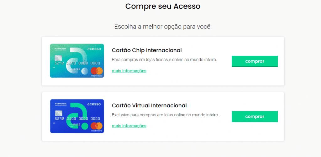 Cartão de Crédito Acesso Chip Mastercard Internacional peça já o seu