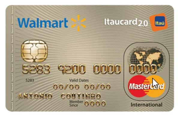 Cartão de crédito Mastercard Walmart Internacional perfeito para compras