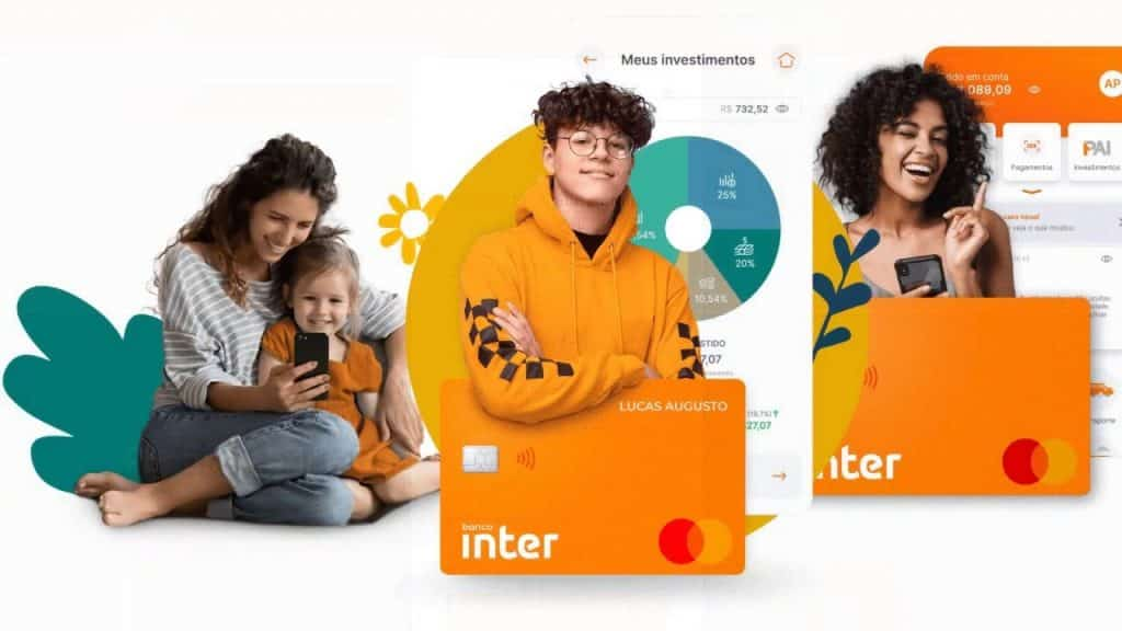 Conta digital do Banco Inter para crianças e adolescentes