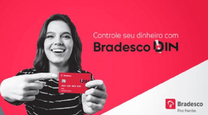 Cartão Bradesco Din o pré-pago mais seguro do Brasil, benefícios e vantagens Din.