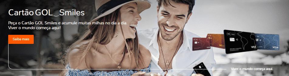 Cartão de crédito GOL Smiles são contemplados com o melhor programa de milhas do Brasil, seja membro do Clube Smiles.