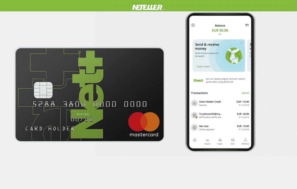 O Grupo Neteller elaborou um cartão como a alternativa de pré-pago, com serviço de transações eletrônicas instantâneas para com dinheiro.